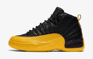 2020 Jordon 12 Universität Gold-Schuhe zum Verkauf mit Kasten-Spielball Fußball PE Spiel Royal Reverse-Taxi Basketballschuhgeschäft U7-US12