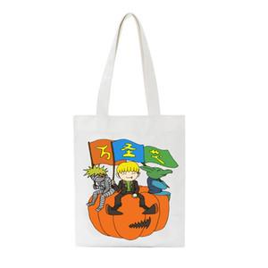 هالوين طبع المرأة قماش حمل السيدات عارضة قماش الكتف حقيبة تلميذة قابلة لإعادة الاستخدام سعة أكبر التسوق سفر شاطئ حقيبة