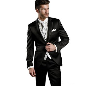 Handsome Groomsmen Notch Lapel Groom Tuxedos Mens Wedding Dress Man Jacket Blazer Prom Dinner 3 Piece Suit(Jacket+Pants+Tie+Vest) B05
