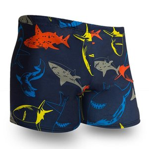 Red Shark Prints Men Male Swim Pool Swimming Suit Swimwear Bathing Shower Boxer Shorts Beach Trunks Briefs Swimsuit Beachwear