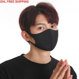 Designer Anti-Dust Cotton Mouth Face Mask Black Protective Masks Unisex disposable facemask Man Woman Wearing Black Fashion Black White blu