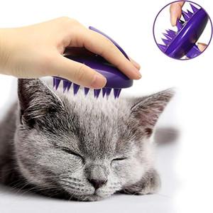 Silicone pour animaux de bain Brosse pour chat chien massage peigne à poils doux Nettoyage Scrubber Lavable Toilettage Délestage Outils volant Animaux Toilettage cheveux