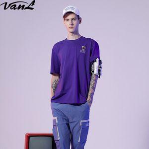 VanL 2019 novo verão O-pescoço T-shirt dos homens 100% algodão impressão T-shirt moda camisa de alta qualidade T-shirt roupas