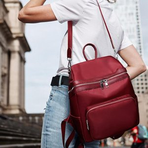 Designer-Moda Simples Mulheres Bag Outono E Inverno Popular Ladies Backpack Projeto clássico Oxford Pano Multi-funcional Lazer Backpac