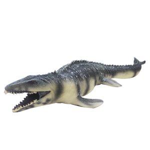 Simulación de Big Mosasaurus juguetes de PVC blando figura de acción de pintado a mano juguetes dinosaurio modelo animal para el regalo de los niños C19041501