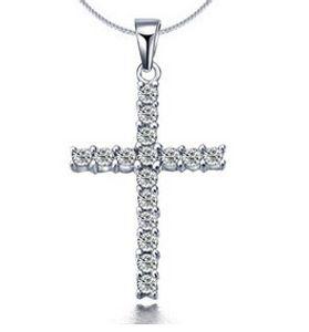 Europeu e americano personalidade moda cruz diamante pingente de colar de corrente de osso cobra broca completa