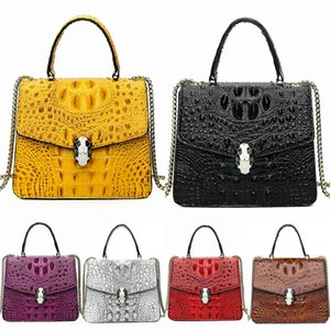 Designer-Cute Pig Bag Pu Round Bag For Women Chain Crossbdoy Mini Ladies Flap Casual Crocodile Shoulder Bag Designer Bags#421