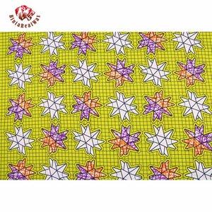 Ankara Cire Polyester Afrique Tissu Prints 2020 Binta réel cire de haute qualité 6 verges tissu africain pour Party Dress FP6128