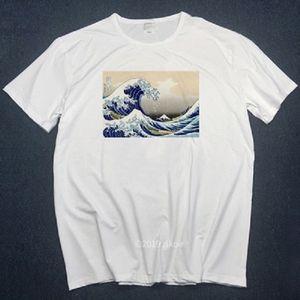 Adam beyaz t shirt kadın yaz büyük beden tişört üst İçin İngilizce Bulldog tişört Büyük Dalga kapalı Yeni Tasarımcı tişörtleri