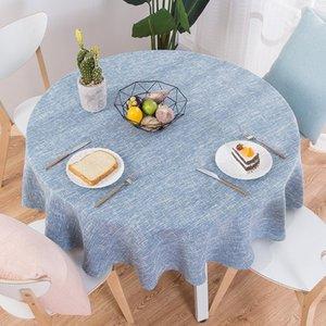 RZCortinas Masa Örtüsü Yuvarlak Düğün Masa Örtüsü Pamuk Keten Tablecloth Nordic Çay Kahve örtüler Ev Mutfak Dekor Y200421