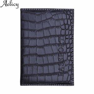 Aelicy 소프트 패스포트 커버 가죽 명함 지갑 여권 홀더 수호자 지갑 섬세한 악어 가죽 엠보싱 가방