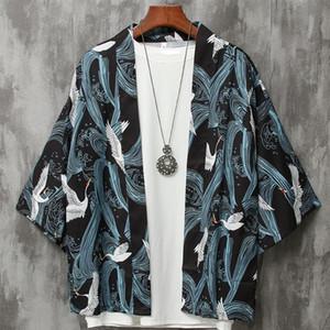 Mens японский стиль Кардиган мужской юката мужской хаори японский самурай одежды традиционной одежды