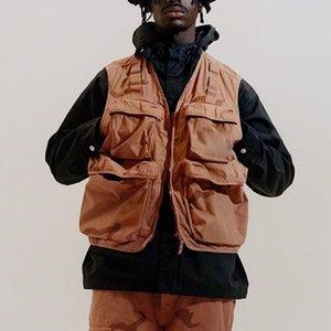 19SS Camo Cargo Gilet tactique Vêtements Montagne Outdoor Hommes Femmes de haute qualité Manteau Casual Street Sport Outwear Jacket Taille S-XL