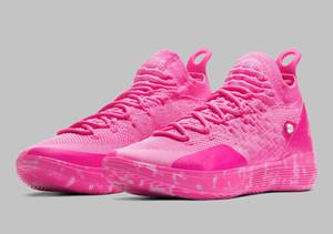 Kutu Kevin Durant 11 Basketbol ayakkabıları ücretsiz kargo Boyut U7-US12 ile 2019 Yüksek Kalite Yeni KD 11 Teyzem ayakkabı satışı