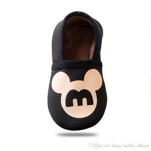 Frühling und Herbst-Winter-Karikatur-Baby-Socken-Baby-Schritte Anti-Rutsch-Leder Sohle Baumwolle Kinder Fußboden-Socken Babysocken Newborn