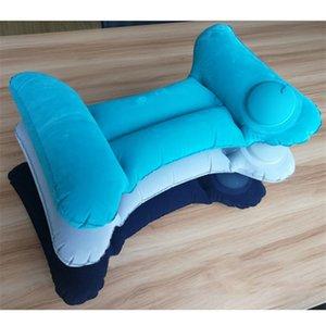 1 Pcs H-shaped Portable Camping Pillow Lumbar Pillow Inflatable Foldable Air Neck Self Pump Up Relaxing Camping Pillow