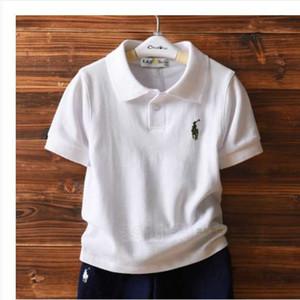 Girls summer fashion cotton T-shirt 2020 new children's big collar summer high-end short-sleeved