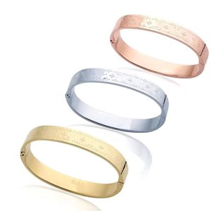 logotipo de la moda diseñador de joyas pulsera de amor de titanio pulsera de acero bijoux de créateurs de lujo femmes pulseras del mens