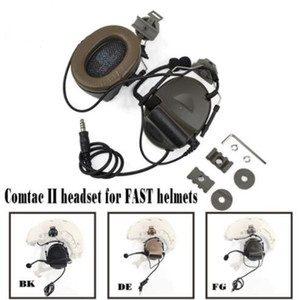 Comtac II Kulaklık Ile Peltor Kask Ray Adaptörü HıZLı Kasklar Mi litary Airsoft Taktik C2 Kulaklık Için Set Z031