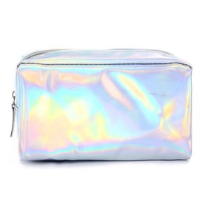 New Fashion Women Laser Purse Box Travel Makeup Cosmetic Bag Toiletry Wash Case Pencil Pouch Hot Holiday Casual Orgnizer Tote
