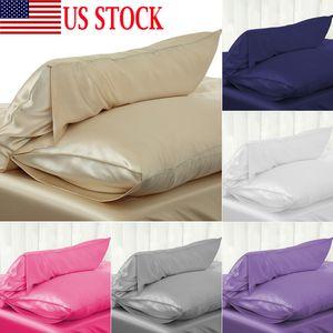 Hot vente de luxe flambant neuf Taie Emulation Silk Cases Femme au foyer Chambre Couverture Oreiller Mode souple Pillowcases