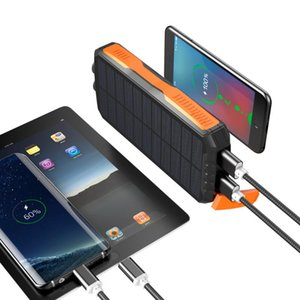 New 2020 Trending Product 25000mAh Power IP65 Waterproof Portable Wireless Solar Power Banks Solar Powerbank Charger