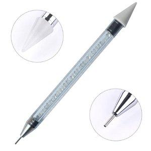Dual-Ended Nail Dotting Pen Kristall Perlen Griff Strass Nieten Picker Wachs Bleistift Maniküre Nail Art Tool