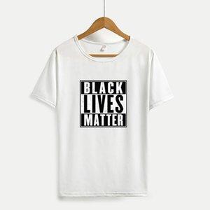 Nero Vite Matters 2020 Attività estive Top Hiphop Nuova Streetwear per il commercio all'ingrosso I Cant Breathe vestiti casuali 4 colori