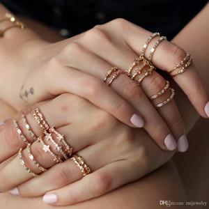 2019 Summer Gold Rose Gold Blanc Couleur Clé Coulée Coulée Mer Star Star Beach Design Délicat Minimal Stacking Femmes Bijoux