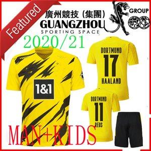 20 21 KIT DE ADULTOS 19 20 Borussia Dortmund Jersey 2020 camisetas de fútbol Niño Hombres CONJUNTOS DE PELIGRO REUS Haaland 110º aniversario de fútbol niños