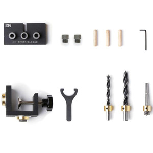 GTBL 10 Woodworking Drill Locating Pin Fixtures Drilling Positioner Kit Woodworking Locator Tool with Step Drill