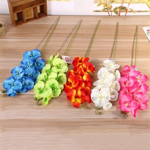 1PC Fashion orchid artificial flowers DIY Artificial Butterfly Orchid Silk Flower Bouquet Phalaenopsis Wedding Home Decoration Other Festive