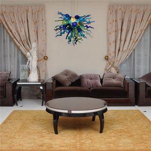 2020 Wholesale-Art-Blumen-Glasleuchter mit CE-UL-Zertifikat Hochzeitsdekoration geblasenem Glas Murano-Art-Kunst-Leuchter-Licht