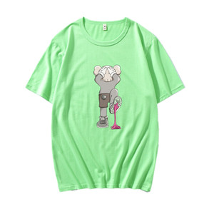 Nuevos amantes camisas hombre mujer casual camiseta manga corta UNIQLO X KAWS X SESAME STREET L ropa de abrigo de moda camisetas outwear tee tops calidad