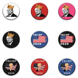 20 Styles Trump commémorative Badge New 2020 Fournitures électorale américaine Trump Supply Stock Qualité US Flag Badge Livraison gratuite