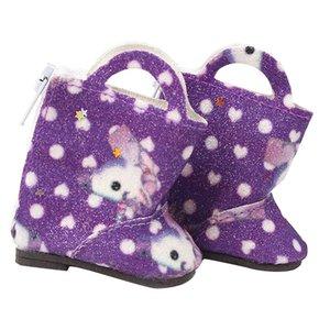 Poupées Chaussures pour Mellchan Baby Doll pour 9-12inch Reborn, élégant Paillettes Bottes Flats, 4 couleurs pour Chosen
