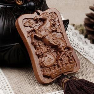 7 stile, alta qualità Scultura in legno Buddha perline Buddismo cinese Shakyamuni Statua Scultura Amuleto Ciondolo auto Netsuke