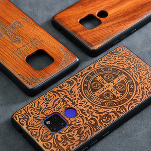 2019 جديد هواوي Mate 20 Pro Case Slim Wood غطاء خلفي TPU Bumper Case لهواوي Mate 20X Phone Cases Mate20