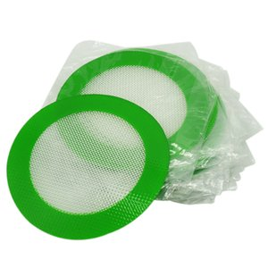 Silicone mats Quality FDA food grade reusable non stick concentrate bho wax slick oil round heat resistant fibreglass silicone dab pad mat
