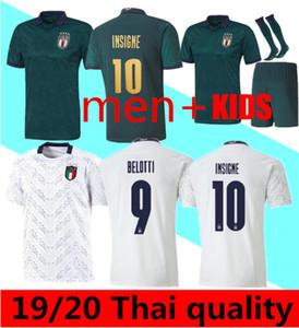 19 20 Itália de Futebol INSIGNE IMMOBILE 2019 2020 EURO Longe Third Kit Itália renascentista Jersey Mens uniforme Crianças BELOTTI Football Shirt