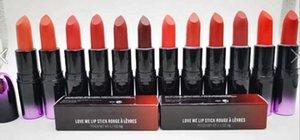 무료 배송 최신 제품 그라데이션 매트 립스틱 사랑 내 립스틱 12 색 광택 섹시한 립 메이 컵 3g