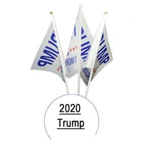 14 * 21 Trump 2020 segnale di mano bandiera Stampa Mantenere finestra America del drappellone Garden Decor Presidente USA americano Donald auto Flag LJJ_A2074