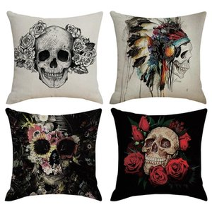 2019 New Holiday Party Supplies Halloween Pillow Case Unique Taro Pattern Sofa Cushion Cover