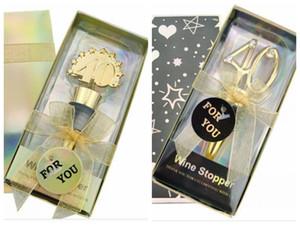 40 ° di nozze regalo di anniversario del 40 ° dono tappo della bottiglia di vino per il regalo 40 ° compleanno e favori di partito 20Pcs / lot