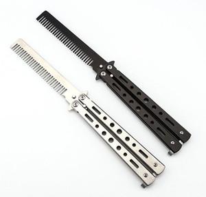 Faltbarer Edelstahlkamm Hand Made Hair Pomade Styling Schmetterling Kamm C-25 Friseur Messer Kamm