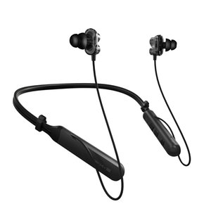 OKCSC BX345 Bluetooth Headphones Double Moving Coil Drivers Collar Wireless Sports Earphones Rich Bass Hanging Neck Earbuds with Microphone
