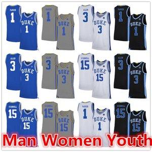 personalizado 2020 fez Duke Blue Devils basquete jerseys Alex O'Connell 15 Grayson Allen 3 Jabari Parker 1 jersey qualquer nome número de tamanho S-5XL