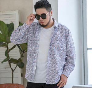 Mens diseñador de la camisa camisas 20ss nueva manera ocasional floja Hawaii manga larga Homme Plus Zise Ropa 10XL