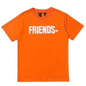 Vlone Friends T Shirt Men Women High Quality Hip Hop Orange T Shirt Vlone Mens Stylist T Shirt Tees Size S-XL