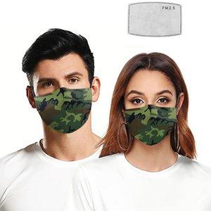 2020 más nuevas máscaras faciales diseñador del camo de polvo de impresión earband máscara de protección ajustable unisex entrega rápida